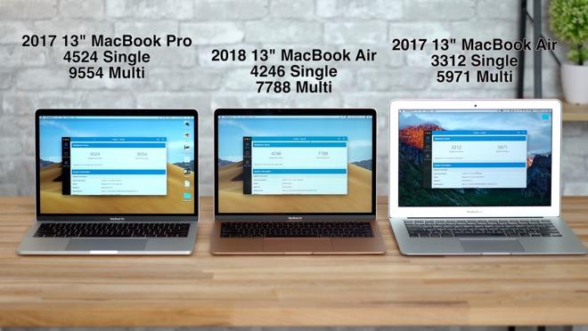 Compared 2018 MacBook Air versus 13-inch MacBook Pro and 2017