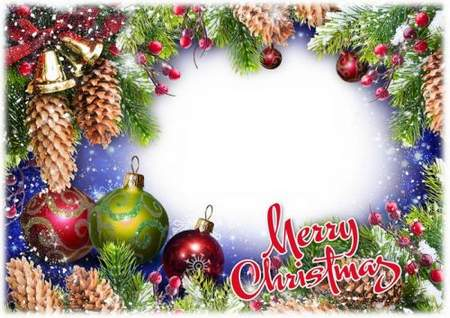 Christmas photoframe psd download ( free Christmas frame psd, free