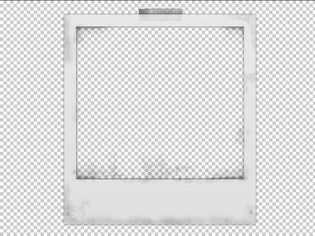 Polaroid frame psd Transparent PNG Frame, Layered PSD Photo frame