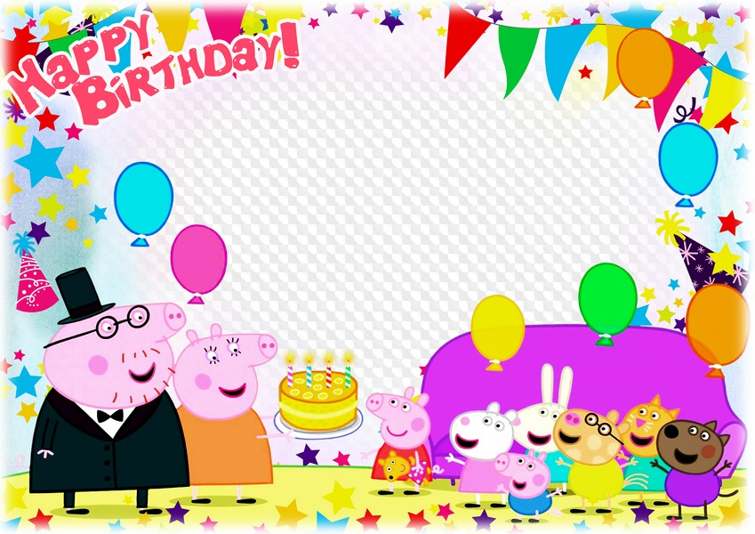 Happy Birthday Picture Frame Png Framecreaveco