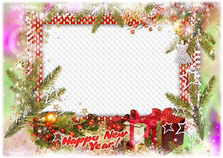 Happy New Year! photo frame Transparent PNG Frame, PSD Layered