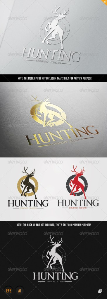 Hunting game logo template