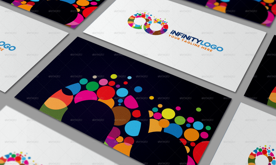 infinity abstract colorful logo business brand