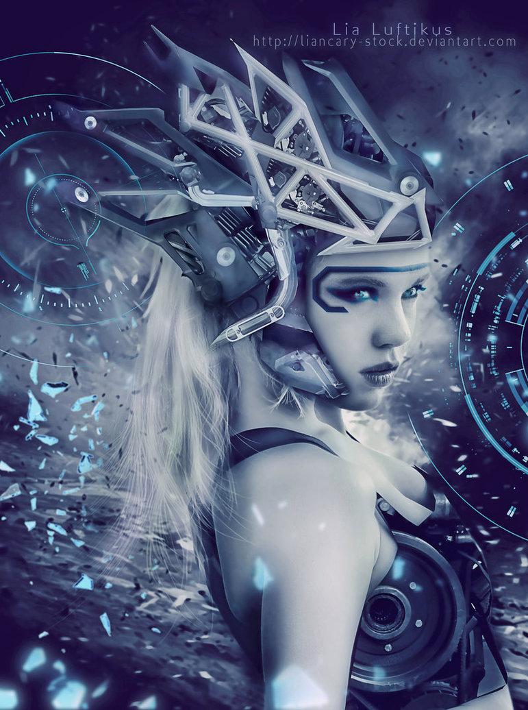 robot girl sci fi futuristic