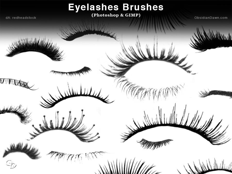 Eyelashes Photoshop Brushes
