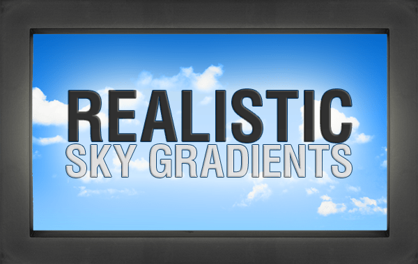 Realistic Sky Gradients