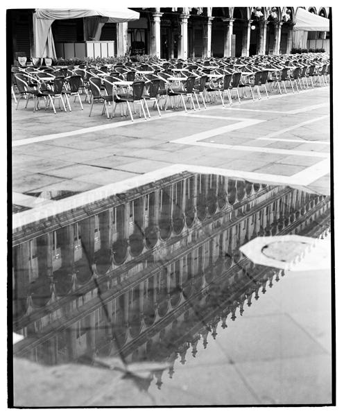 Piazza San Marco, Puddle with Reflection of the Old Procuration