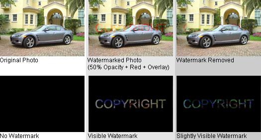 50% Opacity + Color + Overlay Watermark