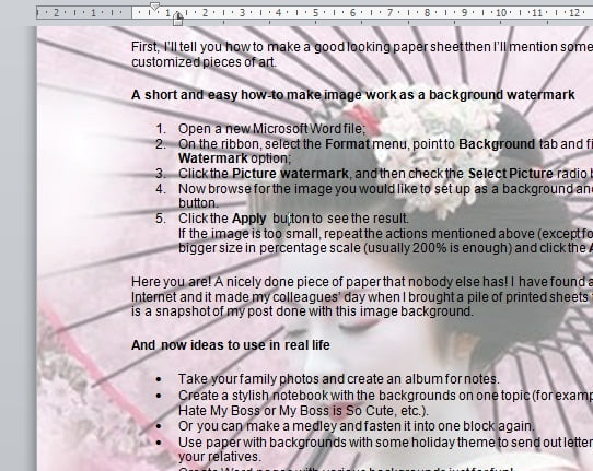 Microsoft Word Guide How to Make Backgrounds For Microsoft Word