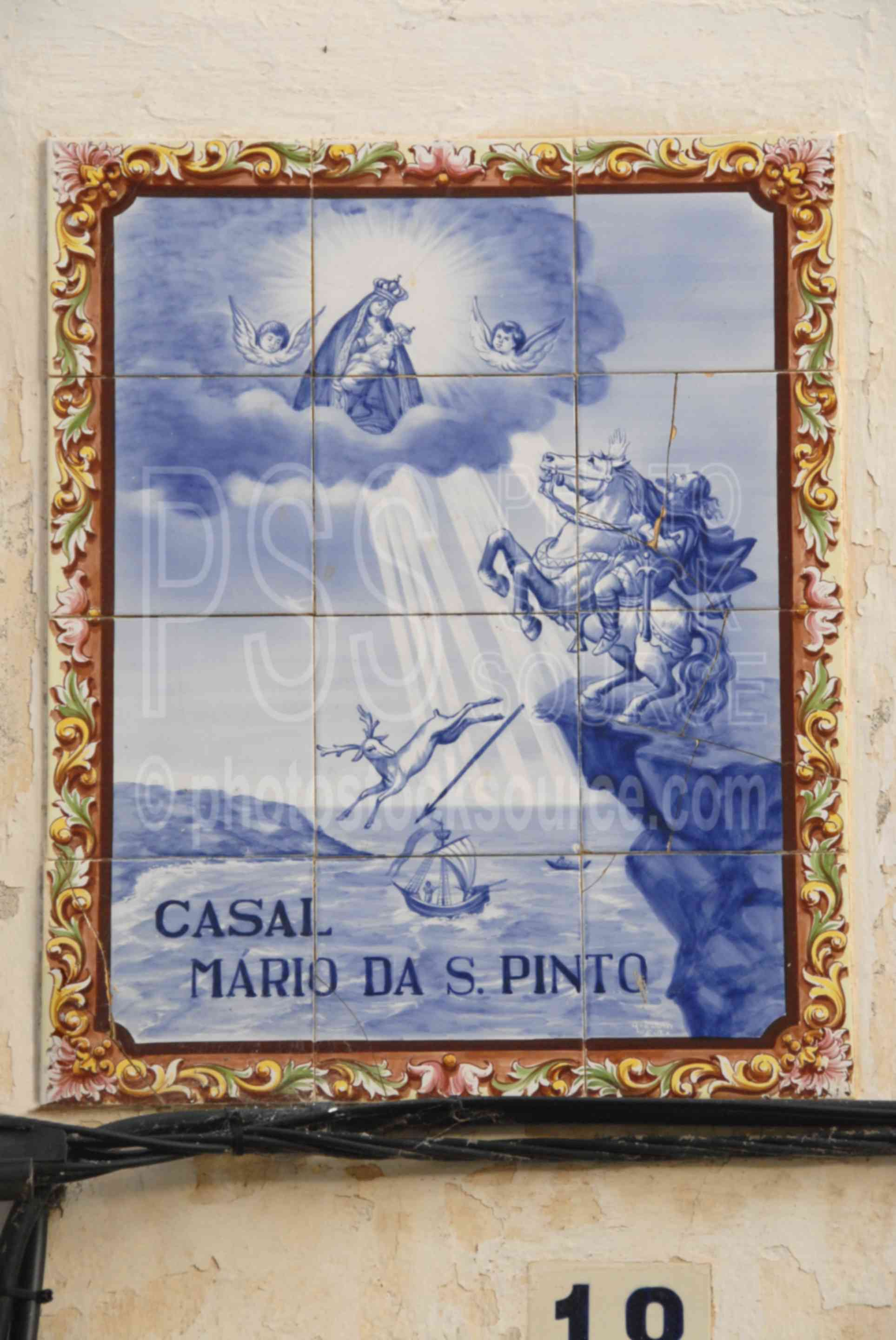 Azulejos Pinto Photo Of Our Lady Of Nazare By Photo Stock Source Art Nazare