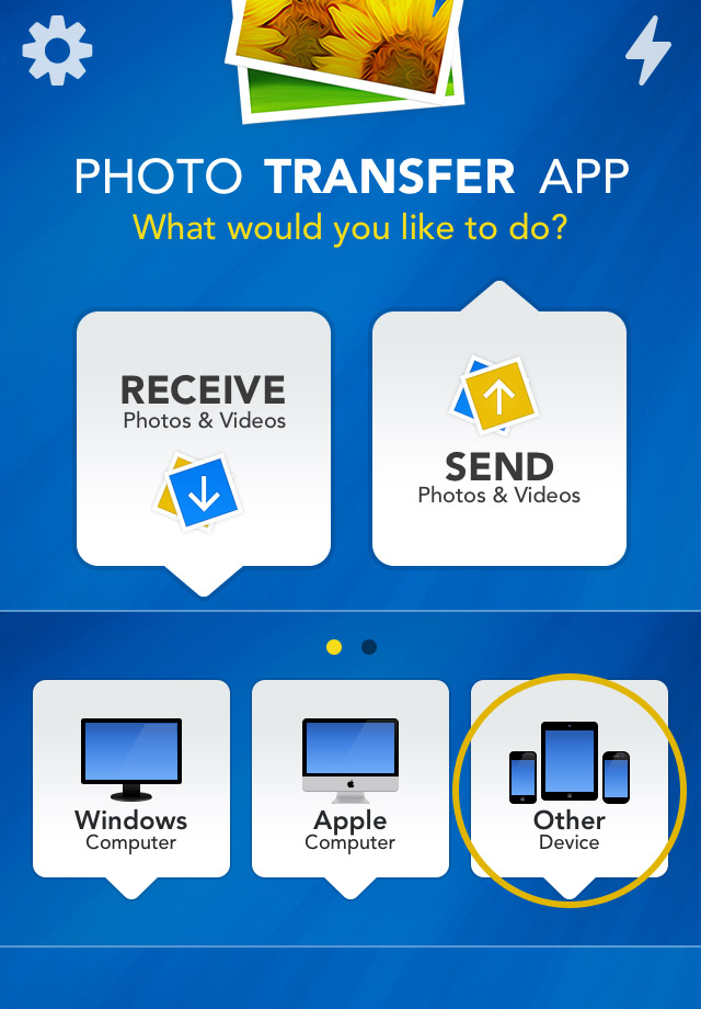 Photo Transfer App iPhone - iTouch Help - EXPLORE and Transfer