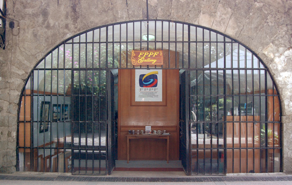 Entrance to the FPPF Art Chamber in Intramuros, Manila, a venue for photography workshops and photo exhibits. Visitors may view the monthly winning photographs of various camera clubs here.