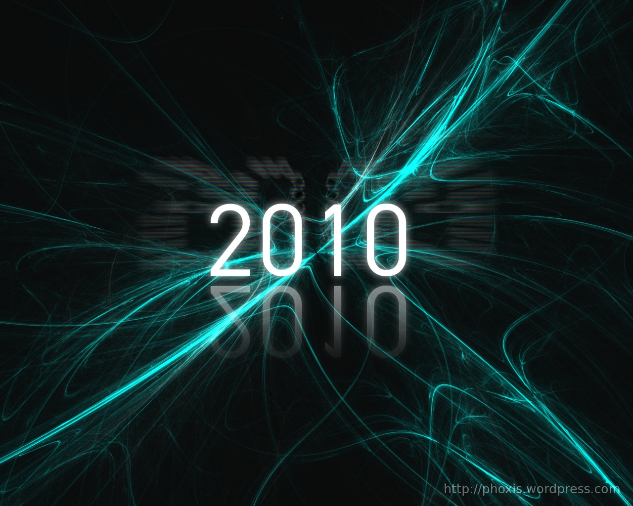 Some 3d Wallpapers New Year 2010 Gimp Wallpaper Phoxis