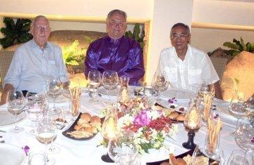 William Warren, Prince Henrik, ML Tri dinner at Mom Tris Kitchen, Villa Royale