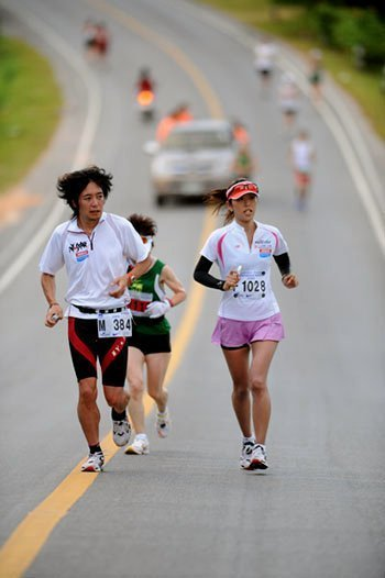 Entrants from 45 countries will be In this year's Laguna Phuket  International Marathon.