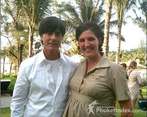 Jogi with khun Sabina, Resort Manager The Shore at Katathani