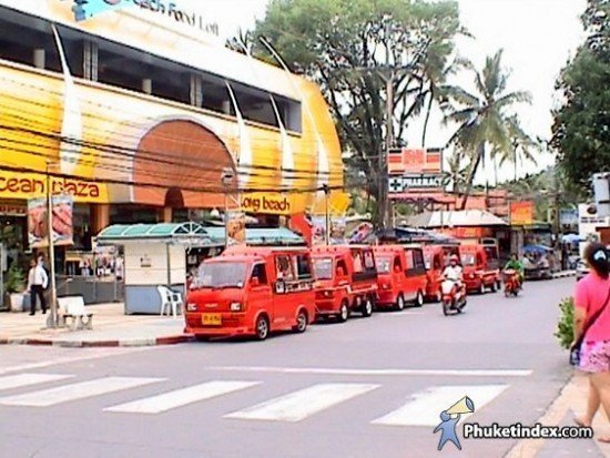 Parking spaces on the Patong beach