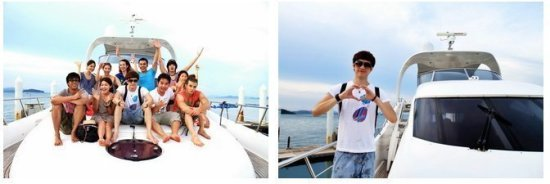 "Twinpalms was delighted to welcome Thai Super star ""Khun Film-Ratthabhumi Thokongsab"" and friends on board with MY Olympia on their vacation August 9th 2011."