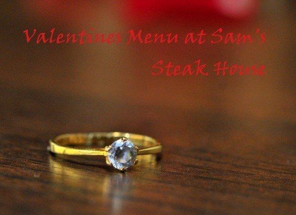 Valentine's Menu at Sam's Steak House