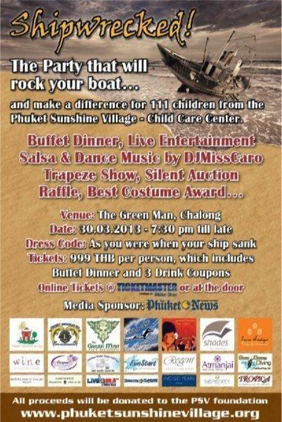 Phuket Sunshine Village's 'Shipwrecked' theme party