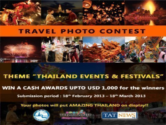 Tourism Authority of Thailand holding Photography Contest