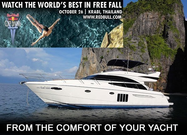 Cliff Diving in Krabi with Princess Yachts SEA
