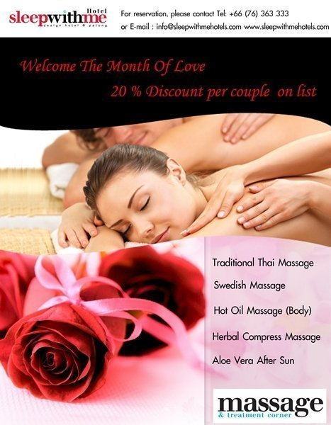 Valentine's Discount at Phuket's Massage & Treatment Corner