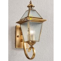 Antique Crystal Glass Copper Wall Sconce 7412 : Browse ...