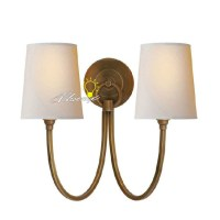 Antique Double Lights Copper Wall Sconce 8758 : Browse ...