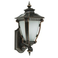 Antique Metal and Matte Glass Wall Sconce 9539 : Free Ship ...