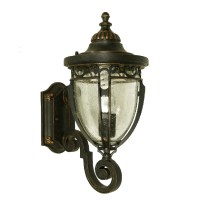 Antique Iron and Water Glass Wall Sconce 9563 : Browse ...