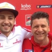 Andrea Iannone and Alfredo Dente