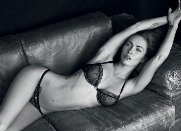 Megane-Fox-Armani-sexy-lingerie-corps-ventre-fesses