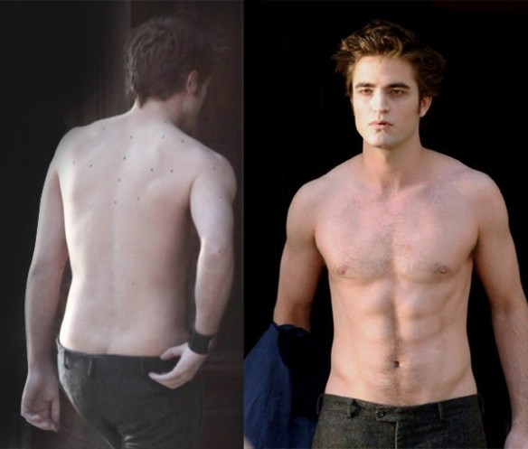 Robert Pattinson abdos muscle torse nue