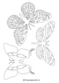 Sagome di Farfalle da Colorare e Ritagliare per Bambini ...