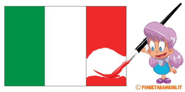 Bandiera Italiana Da Stampare E Colorare In Pi Dimensioni