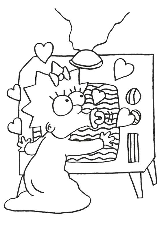 45 disegni dei simpson da colorare