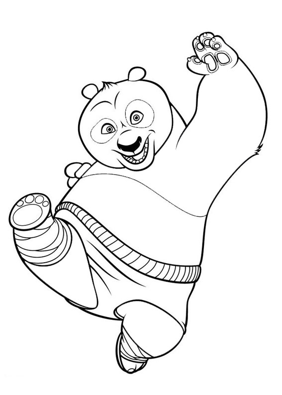 30 Disegni Di Kung Fu Panda Da Colorare
