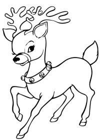 42 Disegni di Renne di Babbo Natale da Colorare ...