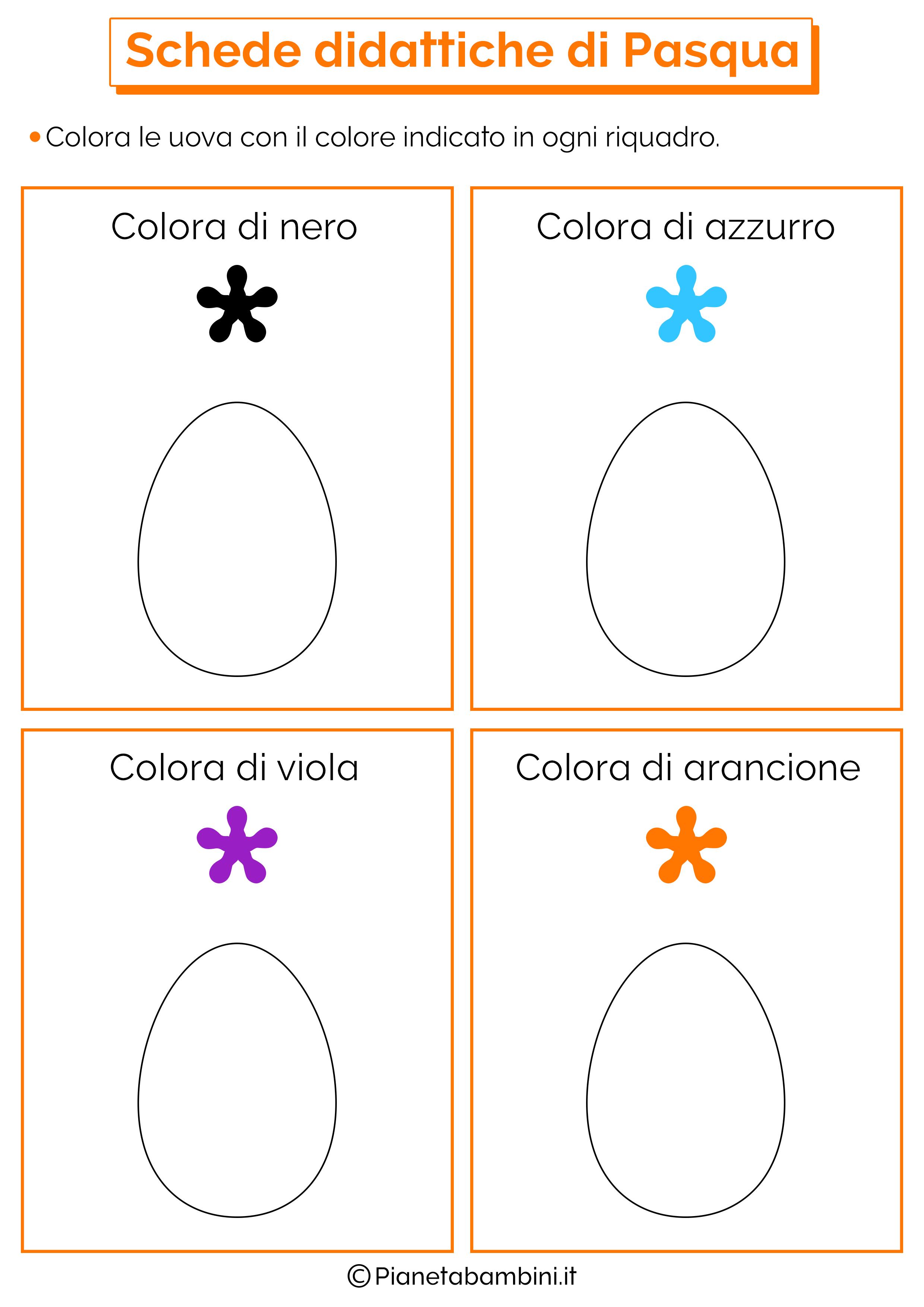 Schede Didattiche di Pasqua per la Scuola dell'Infanzia
