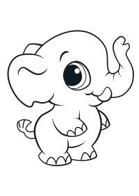 45 Disegni di Elefanti da Colorare