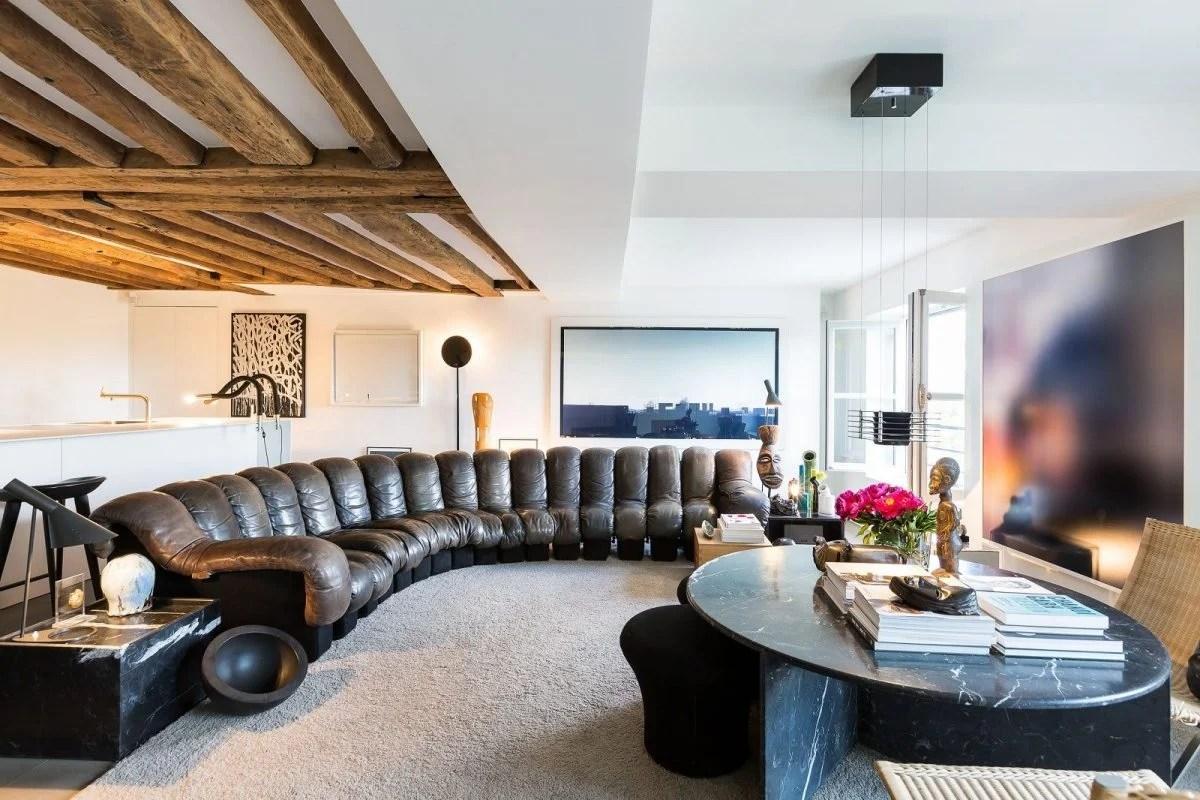 Cucina moderna con tetto in legno camera da letto con tetto in