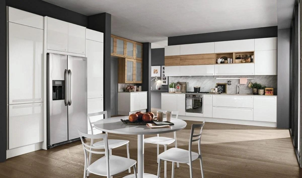 Frigo Cucina | Cucina Lineare Metri Senza Frigo Cucina Lineare Bami ...
