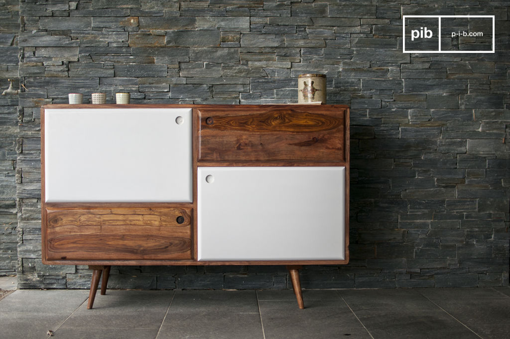 Meuble Tv Suedois 1969 Wooden Buffet - Made Of Solid Sheesham Wood | Pib