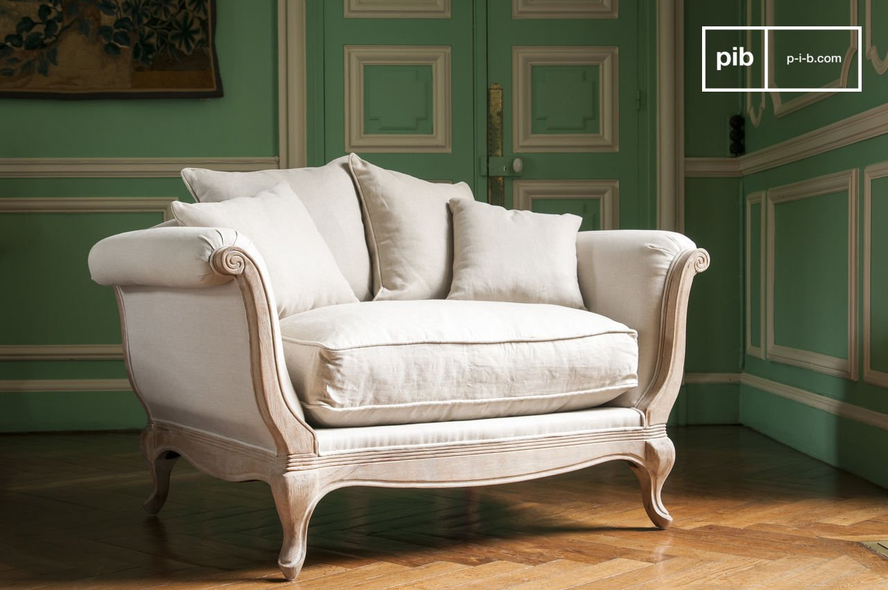 Fauteuil Shabby Chic Grand Trianon Armchair