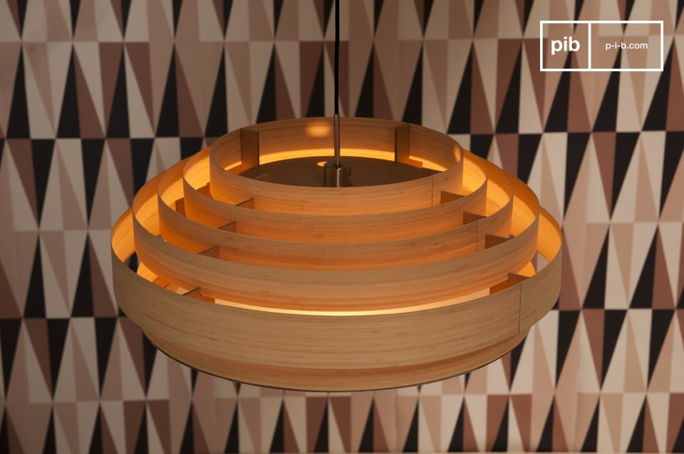Deckenleuchte Retro Large Bamboo Ceiling Light - Elegance And Vintage | Pib
