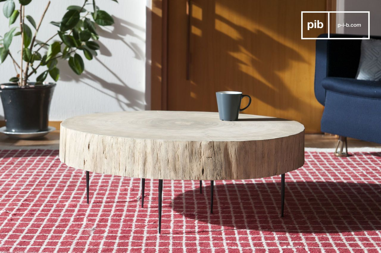 Couchtisch Luca Natural Luka Tree Trunk Coffee Table