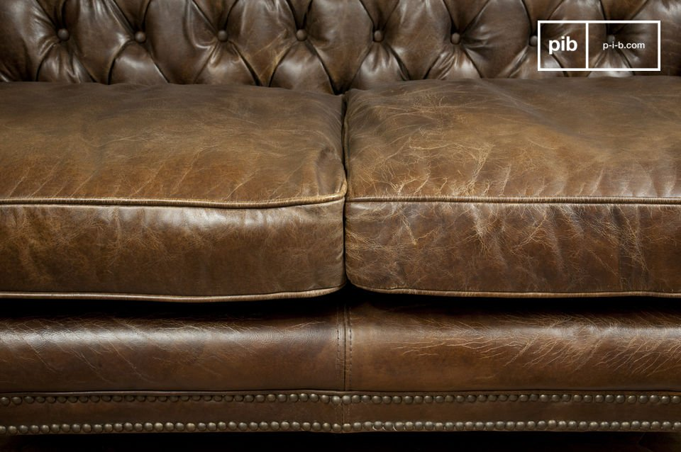 Ledersofa Used Look Doktor Freud-couch - Ledercouch Mit Used-optik Und | Pib