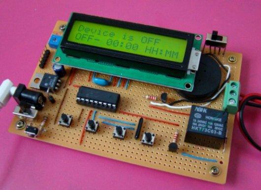 Garage Door Switch Schematics Pic Microcontroller Timer Video Project