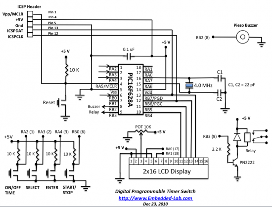 timer circuit diagram power section